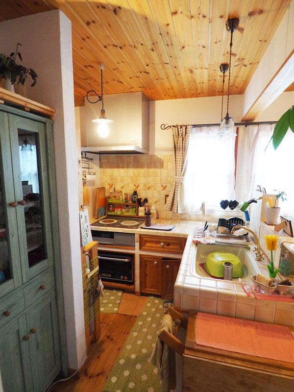 当社のキッチン自作サポートシステムで自作されたキッチンも大事に使われています。