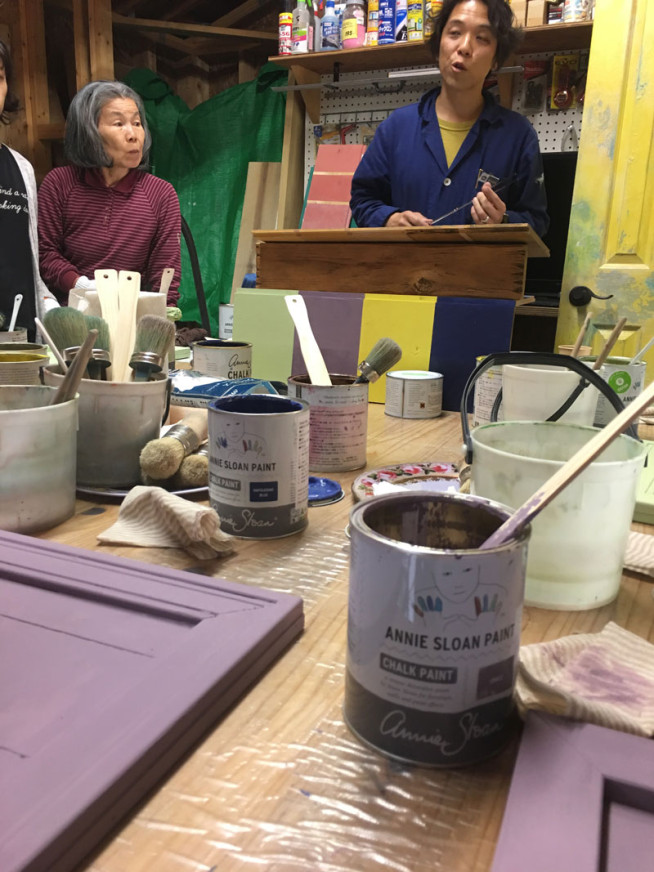 2019年ペイントワークショップ 英国製塗料のチョークペイント を使ってペイント体験