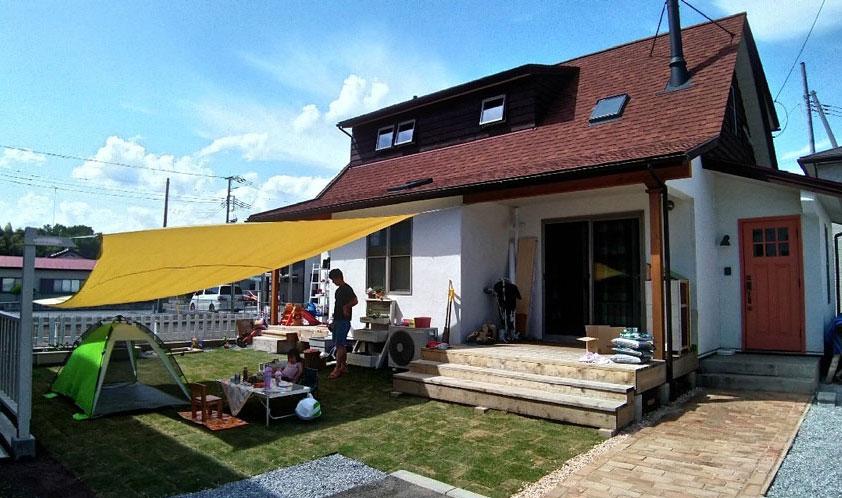 2020年5月30日 庭づくり 完成した庭でプチキャンプを楽しみました