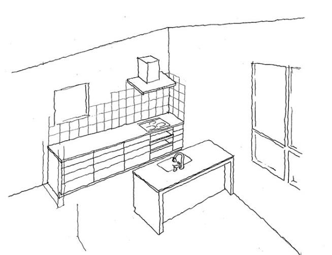20210813F様邸キッチン図面1